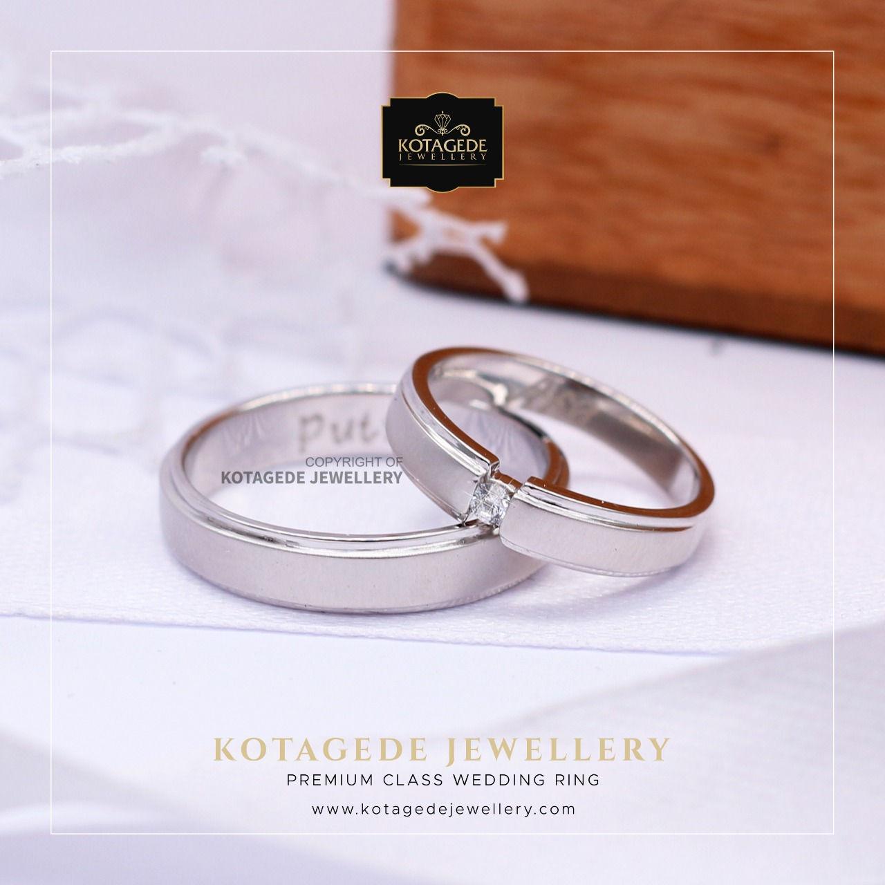 Cincin Kawin Tunangan Platinum Palladium PT003PD