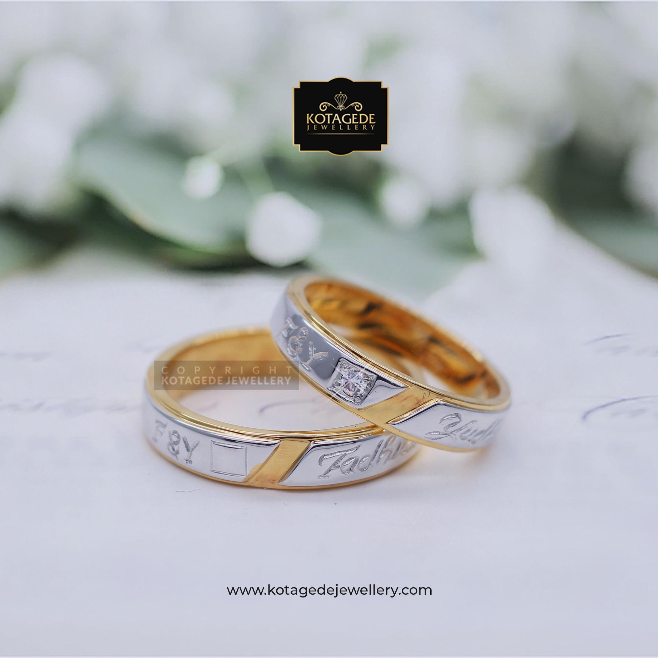 Cincin Kawin Tunangan Platinum Emas Kuning Couple PT0005YG