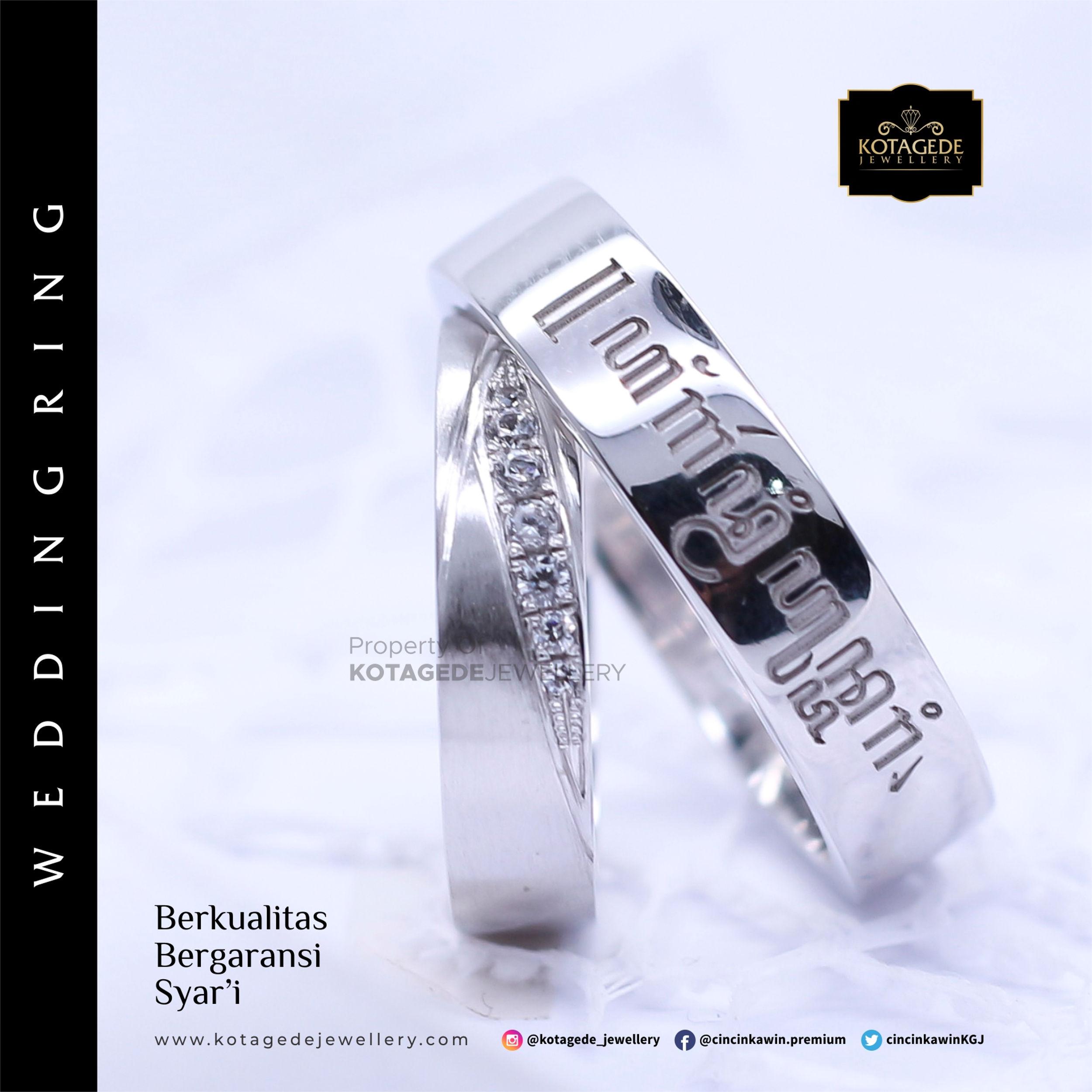 Cincin Kawin Tunangan Platinum Aksara Jawa PT0014PT