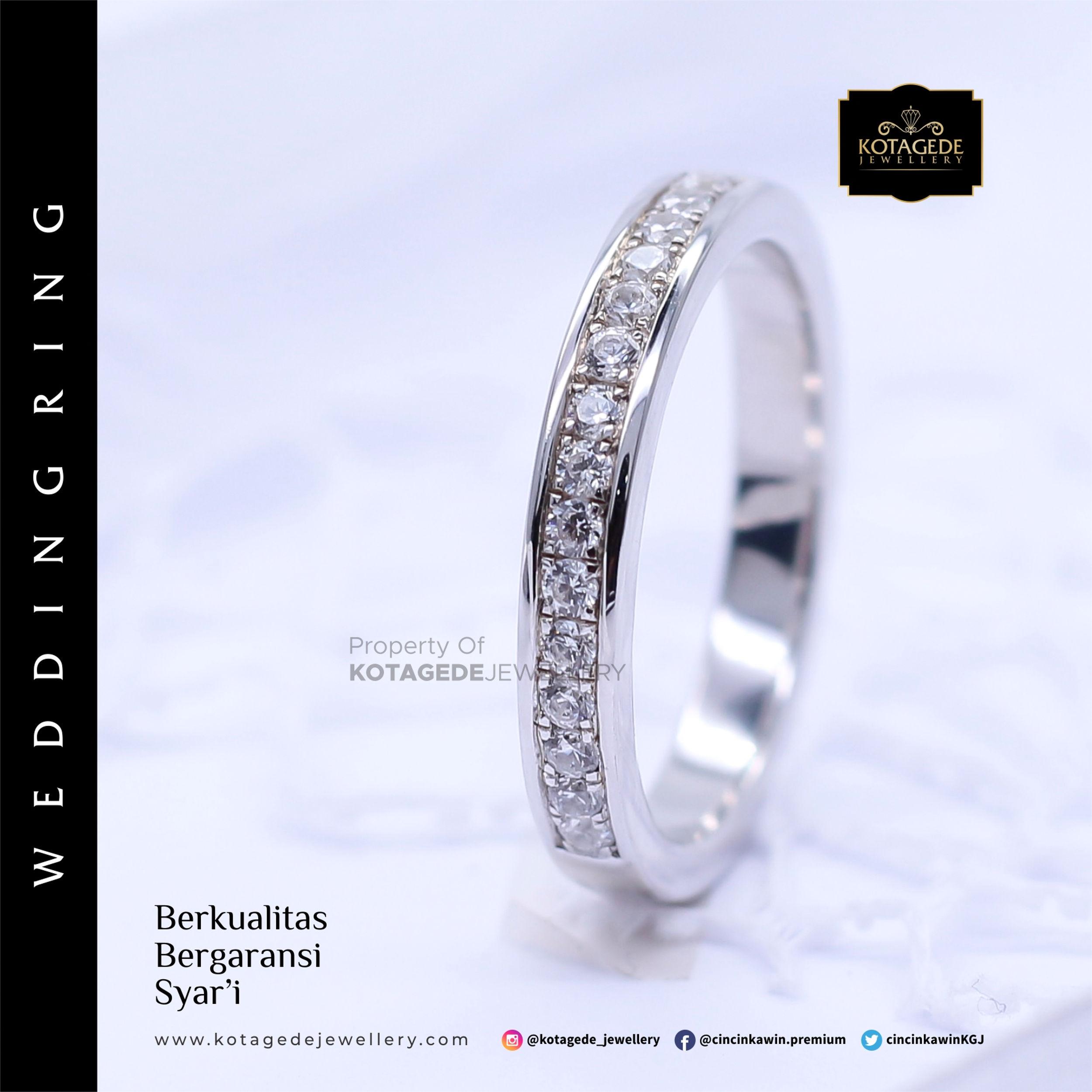Cincin Kawin Tunangan Platinum Elegant Diamond PT0013