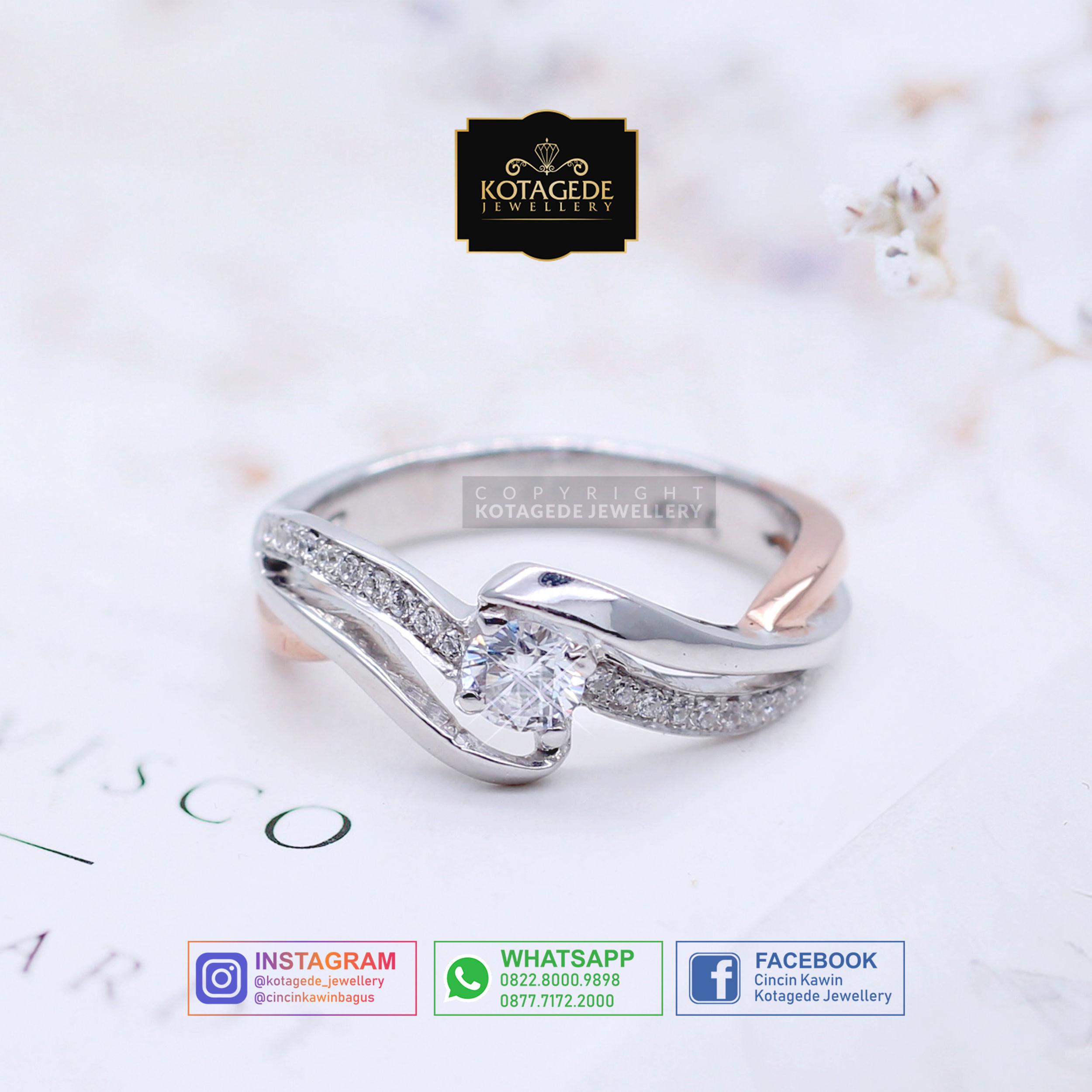 Cincin Kawin Tunangan Platinum Elegant PT0017