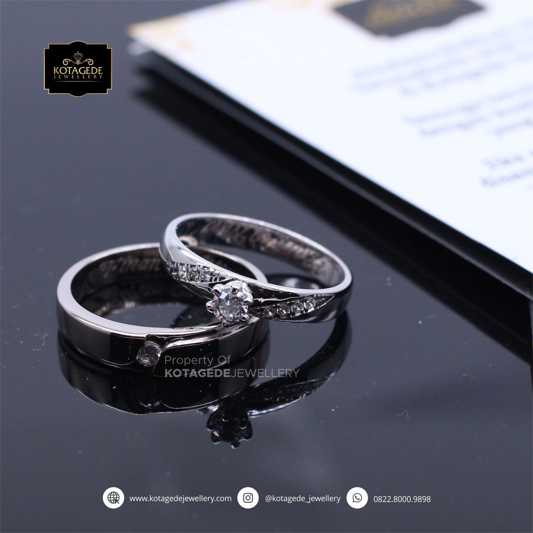 Cincin Kawin Tunangan Platinum Diamond Elegant PT0071PT