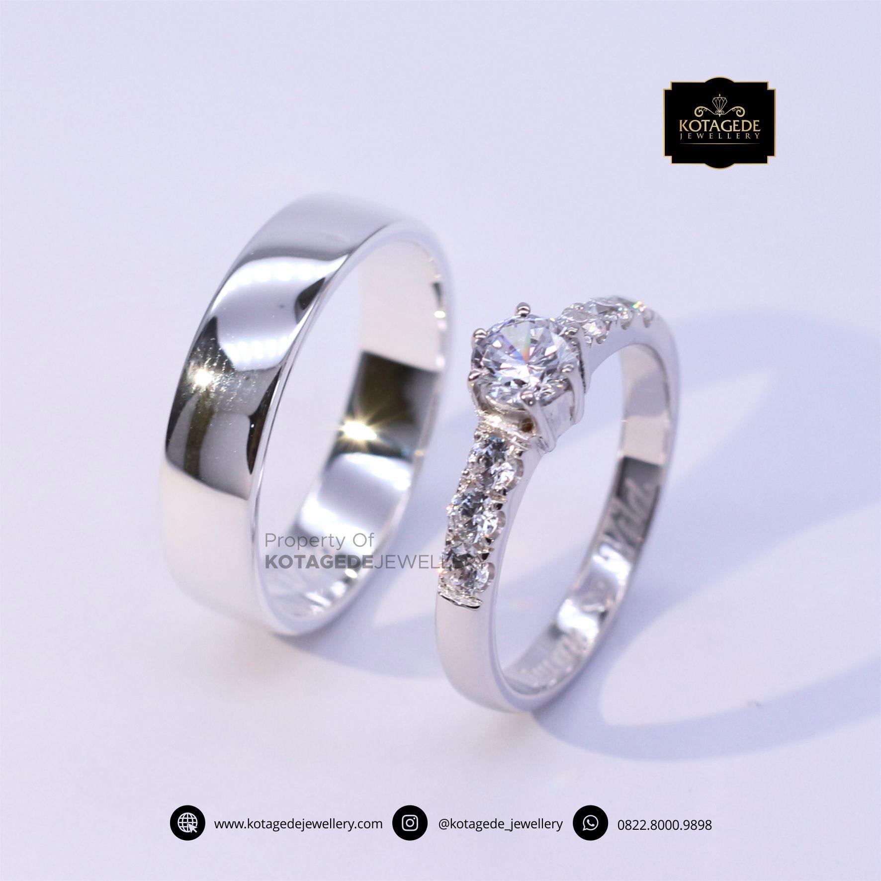 Cincin Kawin Tunangan Platinum Diamond PT0058PT