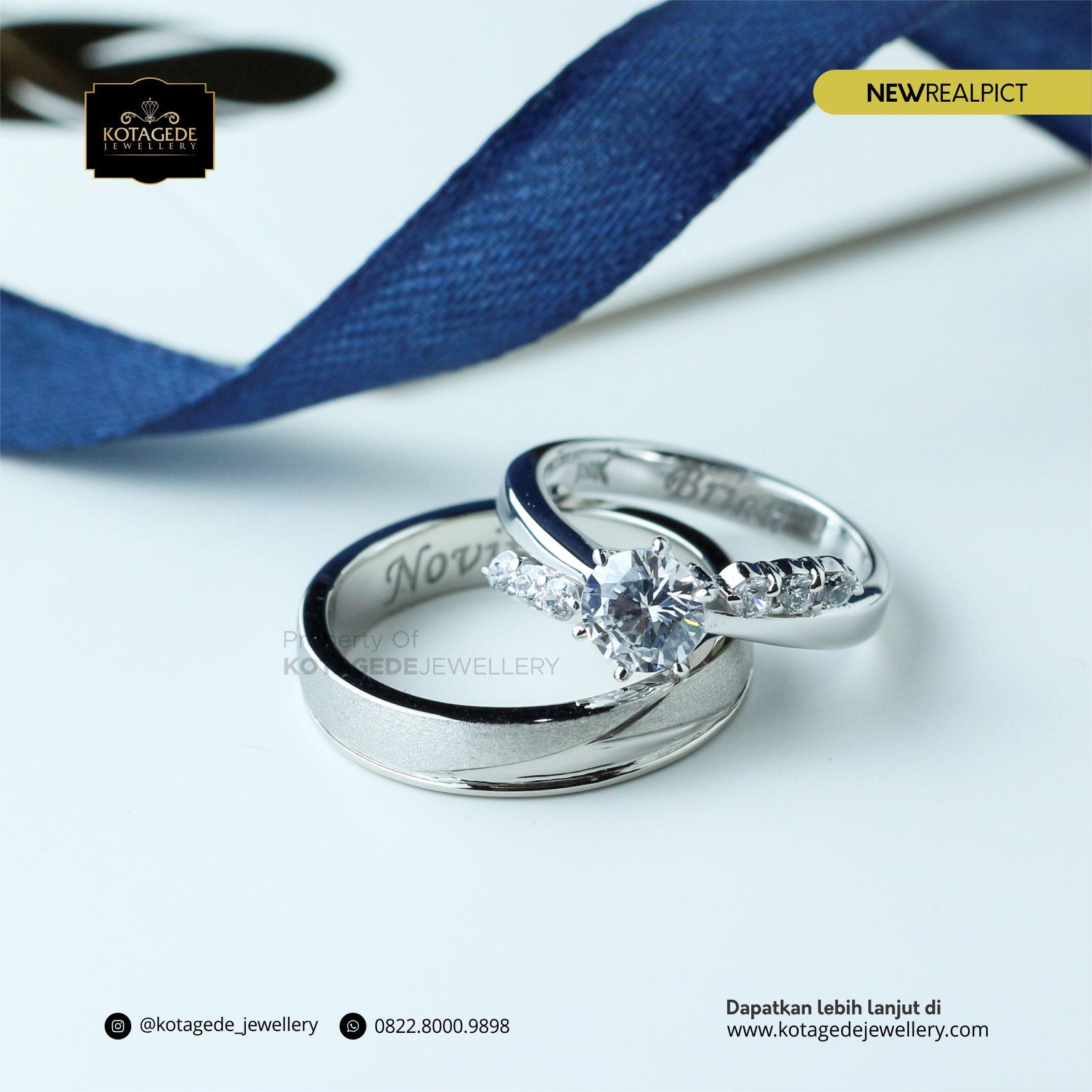 Cincin Kawin Tunangan Platinum Diamond PT0064PT