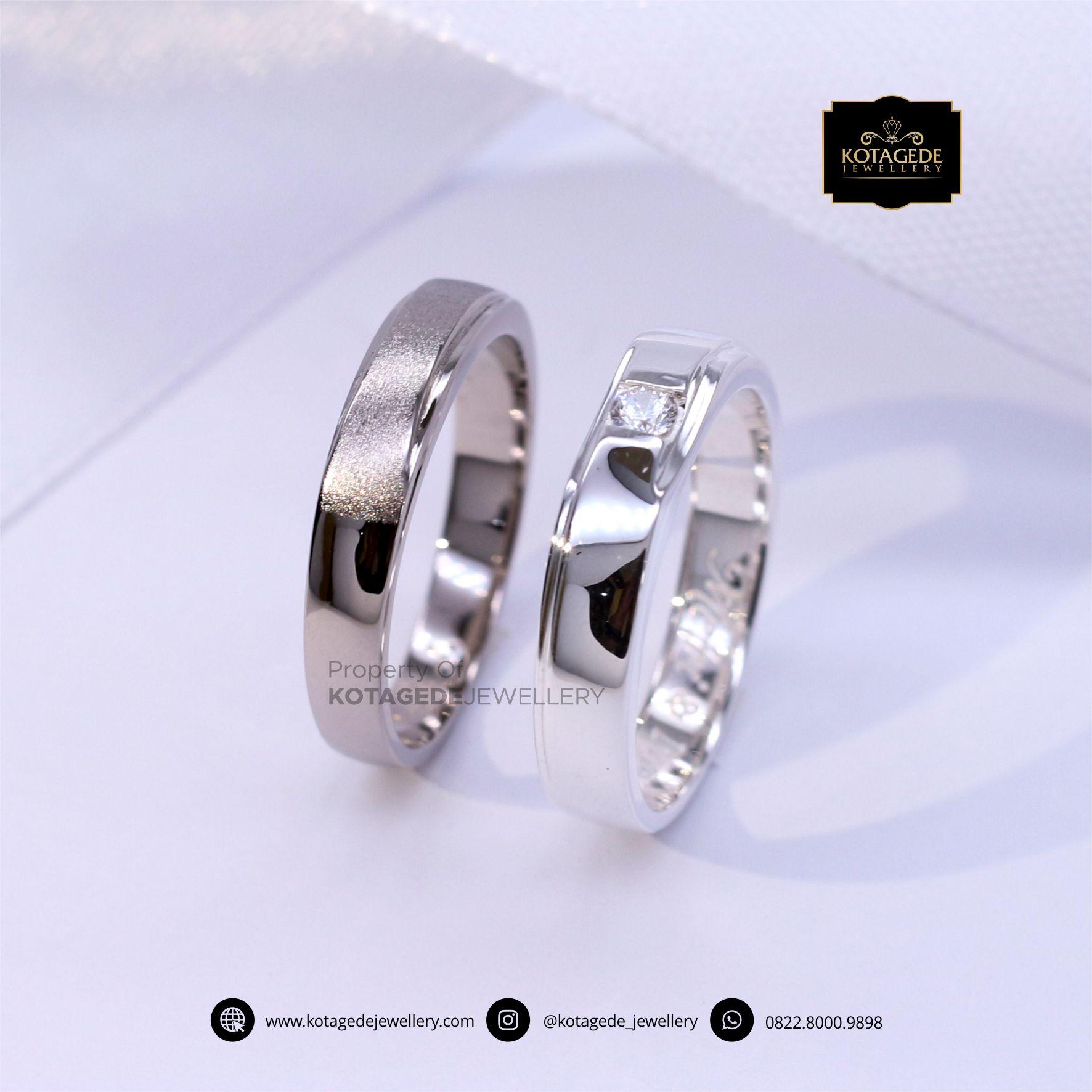 Cincin Kawin Tunangan Platinum Palladium PT0054PD