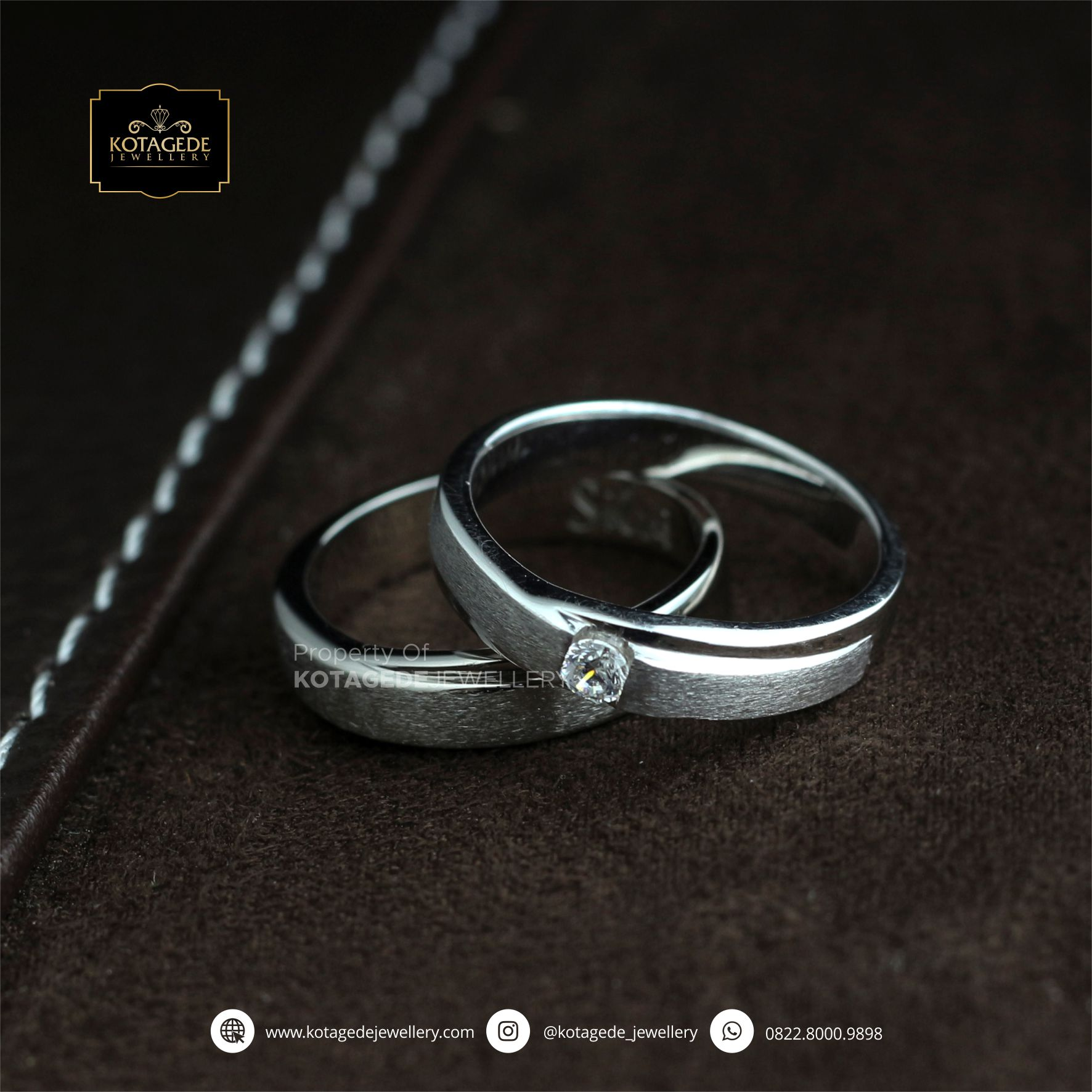 Cincin Kawin Tunangan Palladium Doff Couple PD0085PD