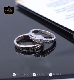 Cincin Kawin Tunangan Platinum Couple Elegant PT0083PT