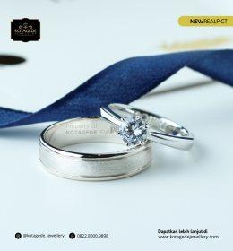 Cincin Kawin Tunangan Platinum Diamond Elegant PT0087PT