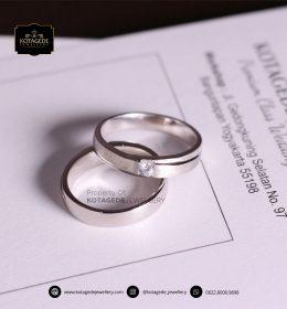 Cincin Kawin Tunangan Platinum Palladium Couple PT0076PD