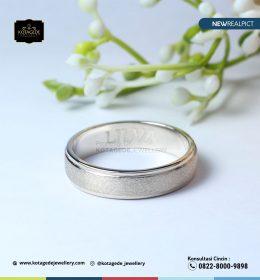 Cincin Kawin Tunagan Emas Putih Standar WG0103