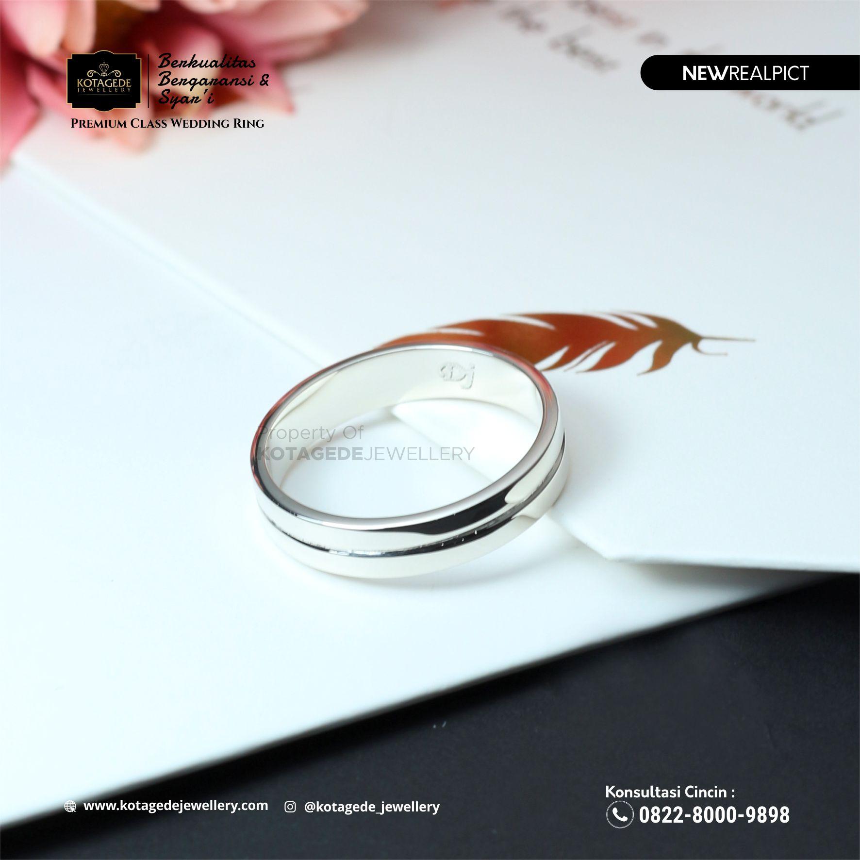 Cincin Kawin Tunangan Palladium Elegant PD0100