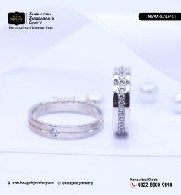 Cincin Kawin Tunangan Palladium Emas Putih PD0096WG