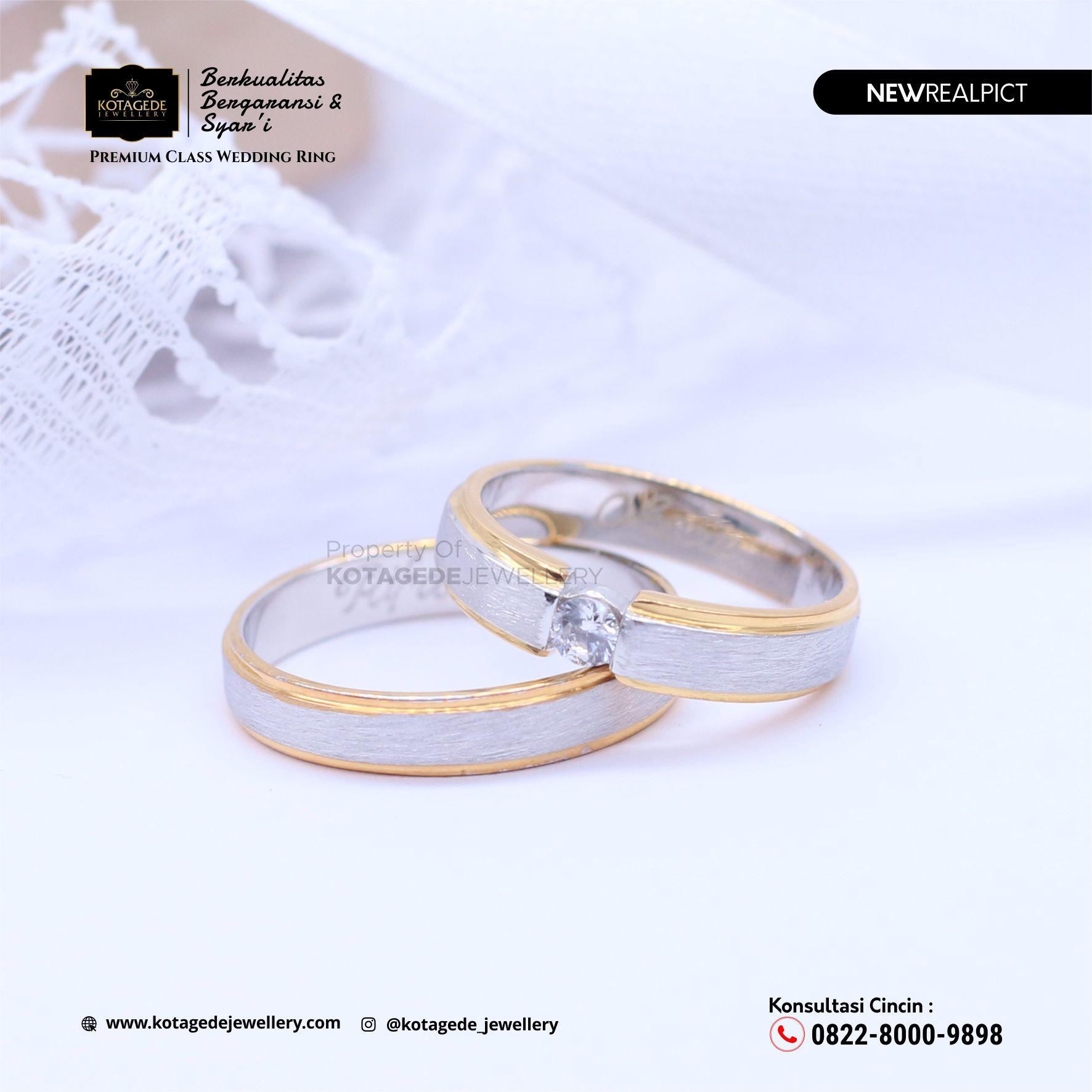 Cincin Kawin Tunangan Platinum Doff Couple PT0098PT