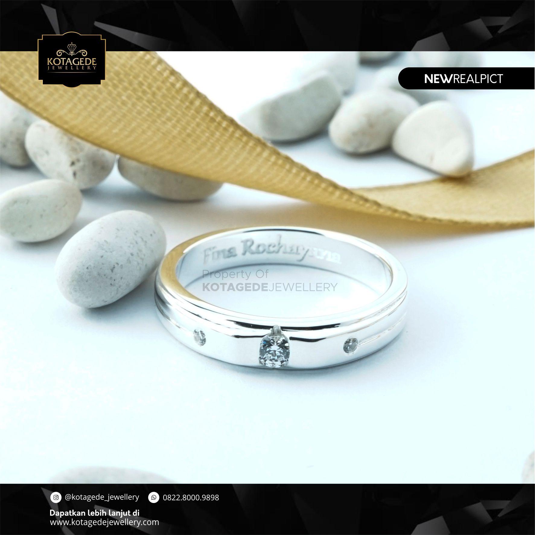 Cincin Kawin Tunangan Platinum Elegant PT0114