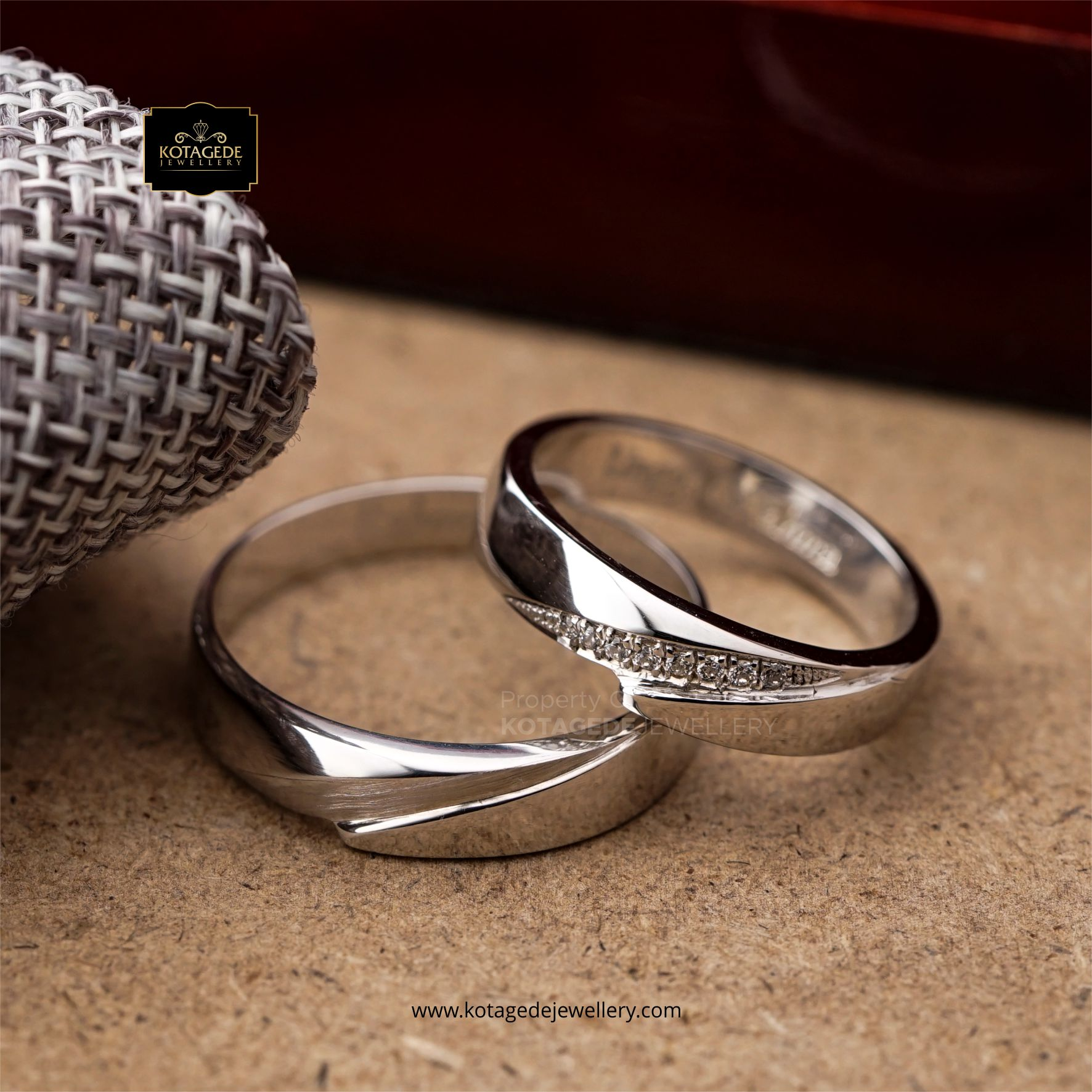 Cincin Kawin Tunangan Palladium Couple PD0120PD