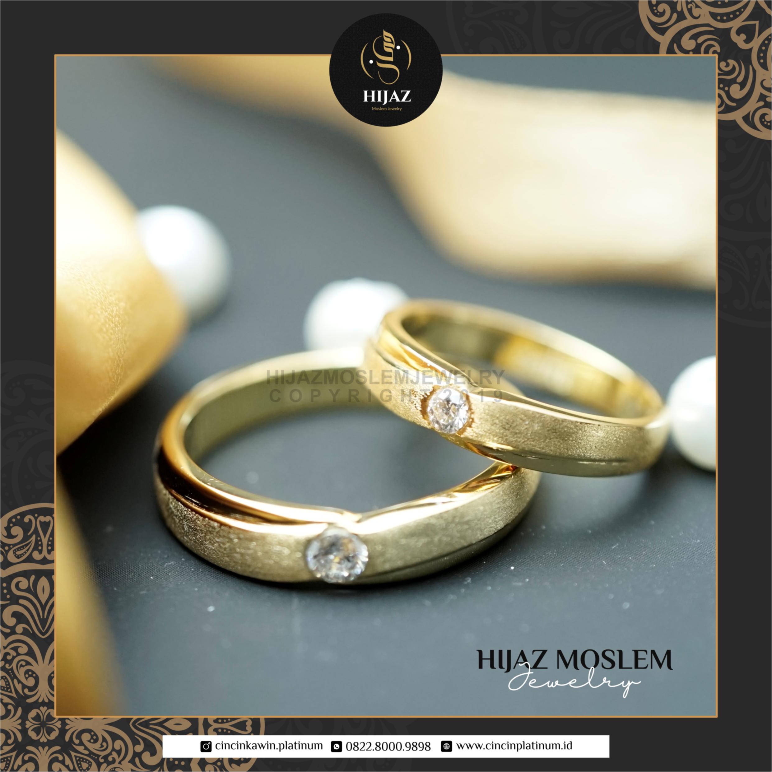 Cincin Kawin Tunangan Emas Kuning Couple YG0128YG