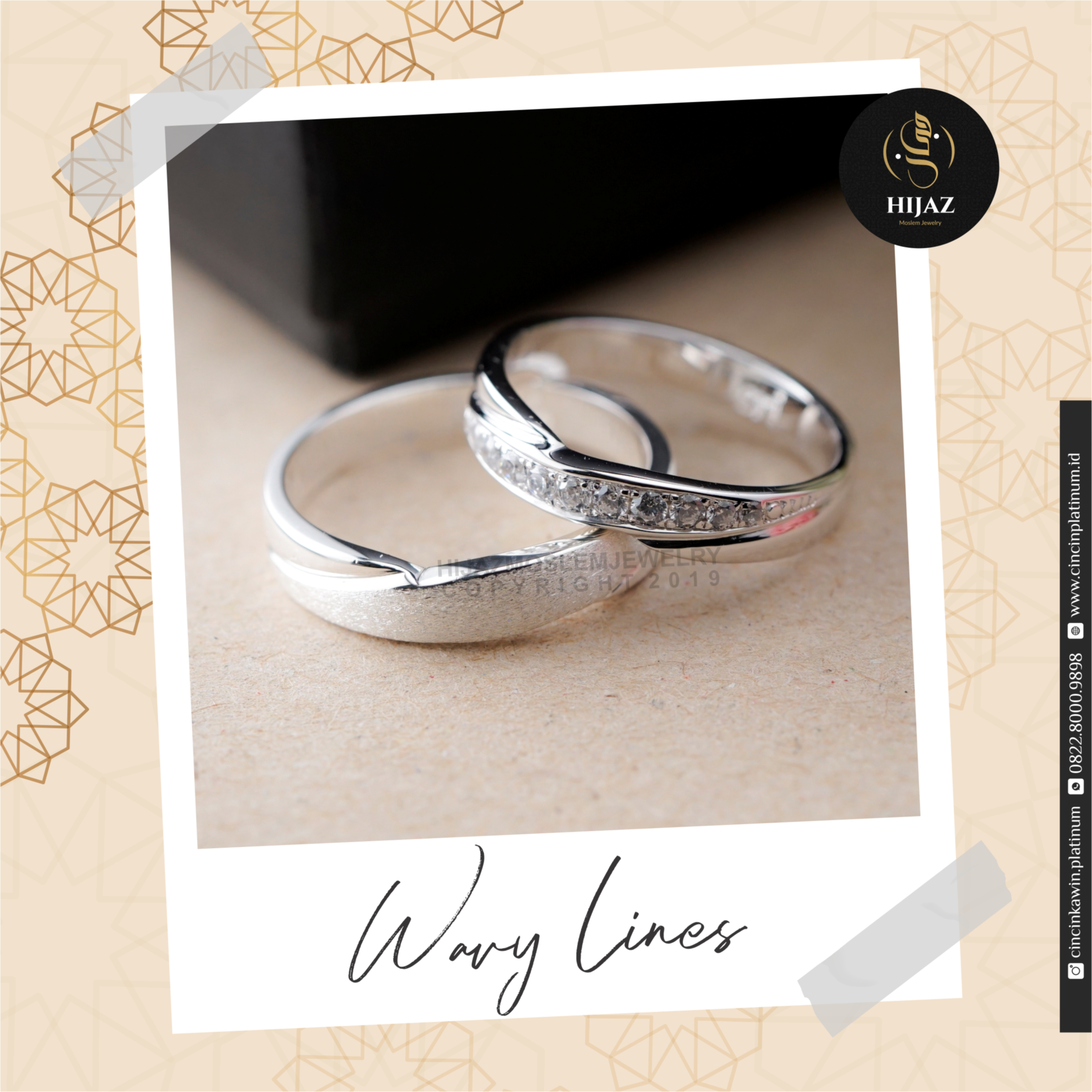 Cincin Kawin Tunangan Platidium Couple PDT0129PTD