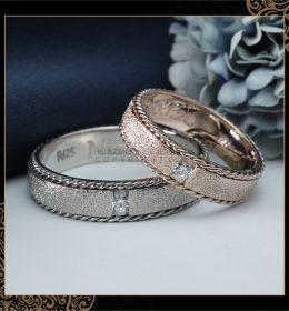 Cincin Kawin Tunangan Emas Putih Rosegold WG0136RG