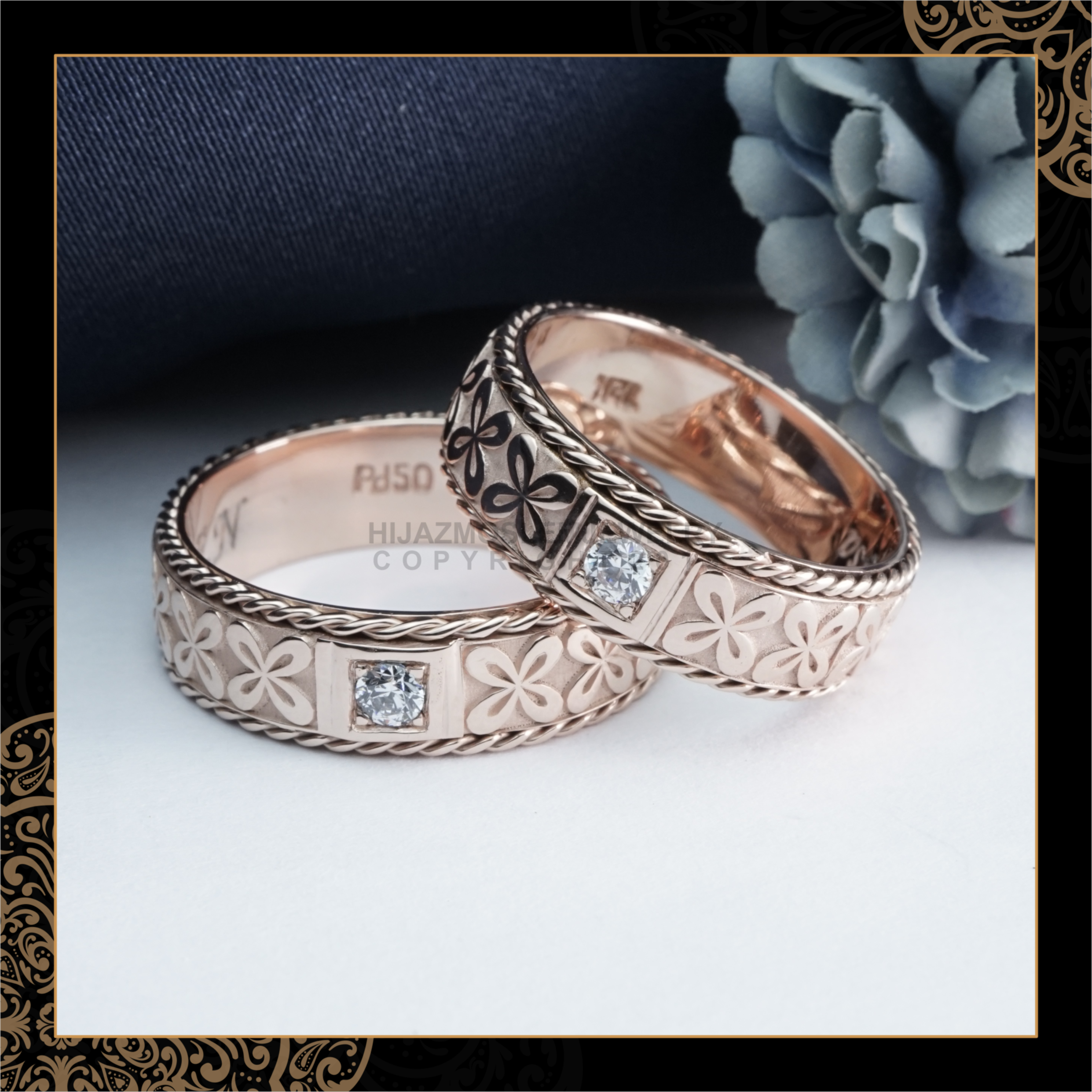 Cincin Kawin Tunangan Emas Rosegold Batik RG0137