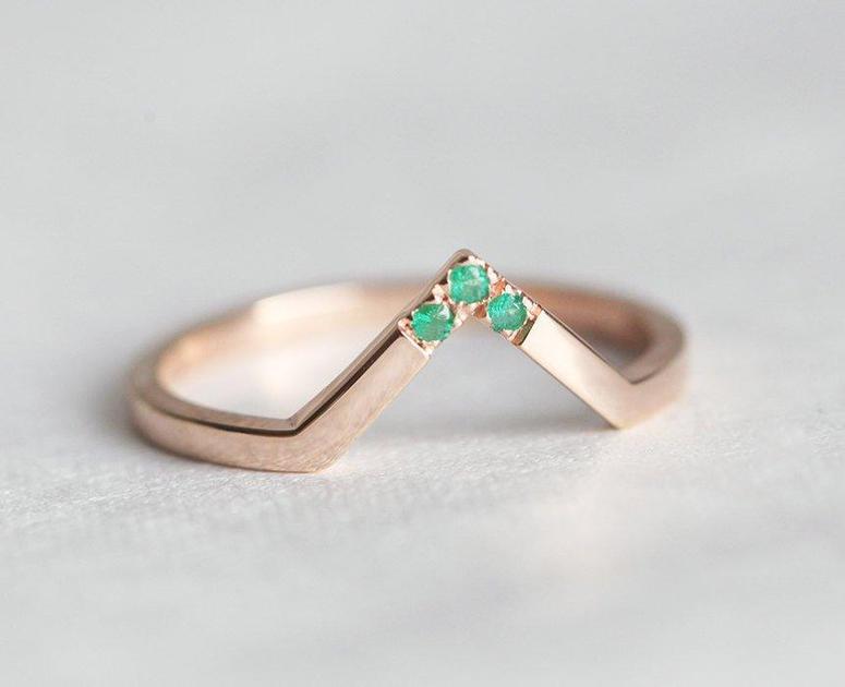 model cincin permata wanita emerald