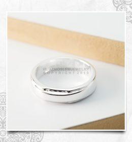 Cincin Kawin Tunangan Emas Putih Simpel WG0143