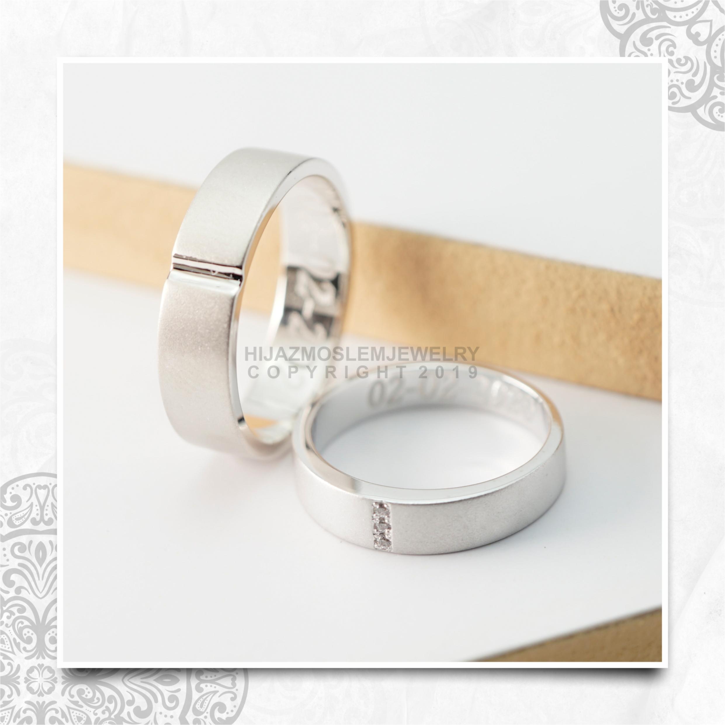 Cincin Kawin Tunangan Platidium Emas Putih PTD0142WG