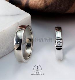 Cincin Kawin Tunangan Palladium Emas Putih PD0150WG