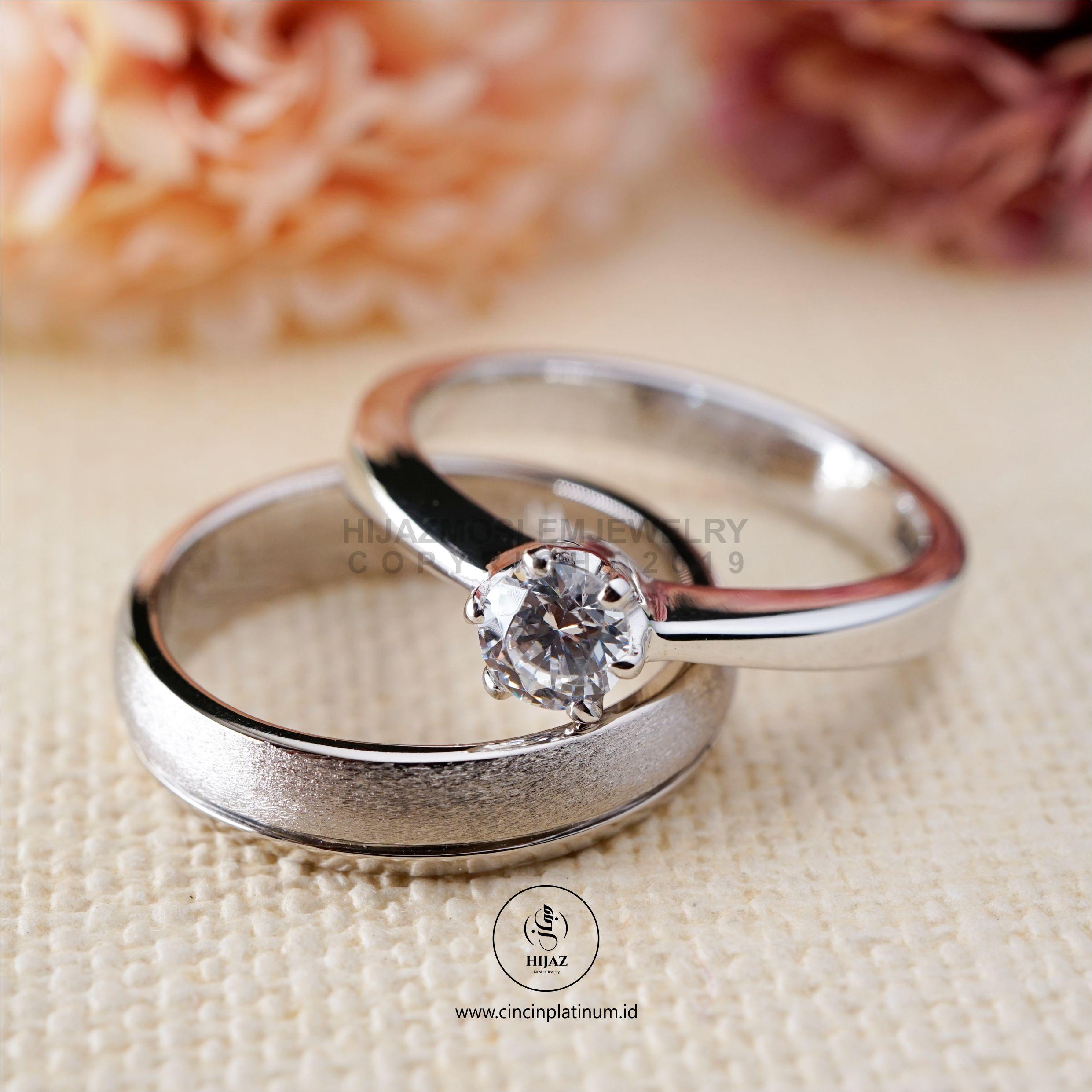 Cincin Kawin Tunangan Emas Putih Couple WG0143WG