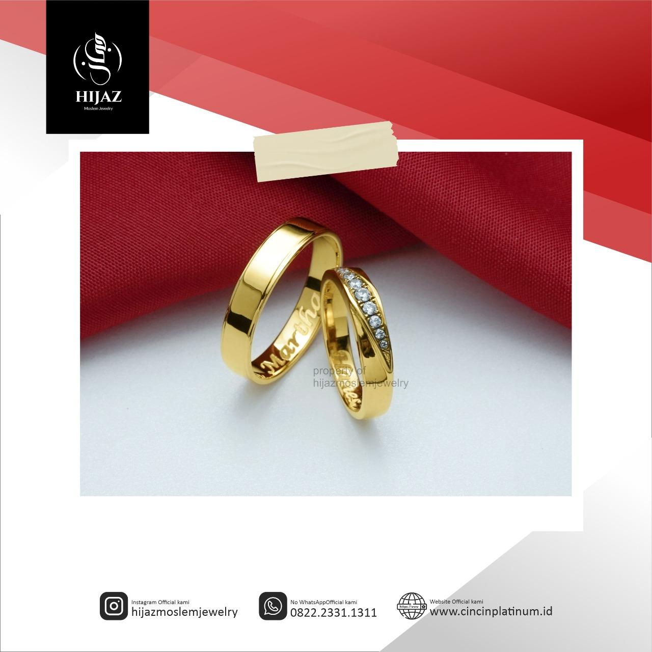 Cincin Kawin Tunangan Emas Couple YG0155YG