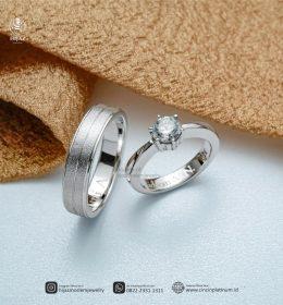Cincin Kawin Tunangan Platidium Couple Simpel PTD0150PTD