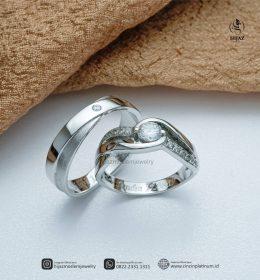 Cincin Kawin Tunangan Sling Couple PTD0151WG