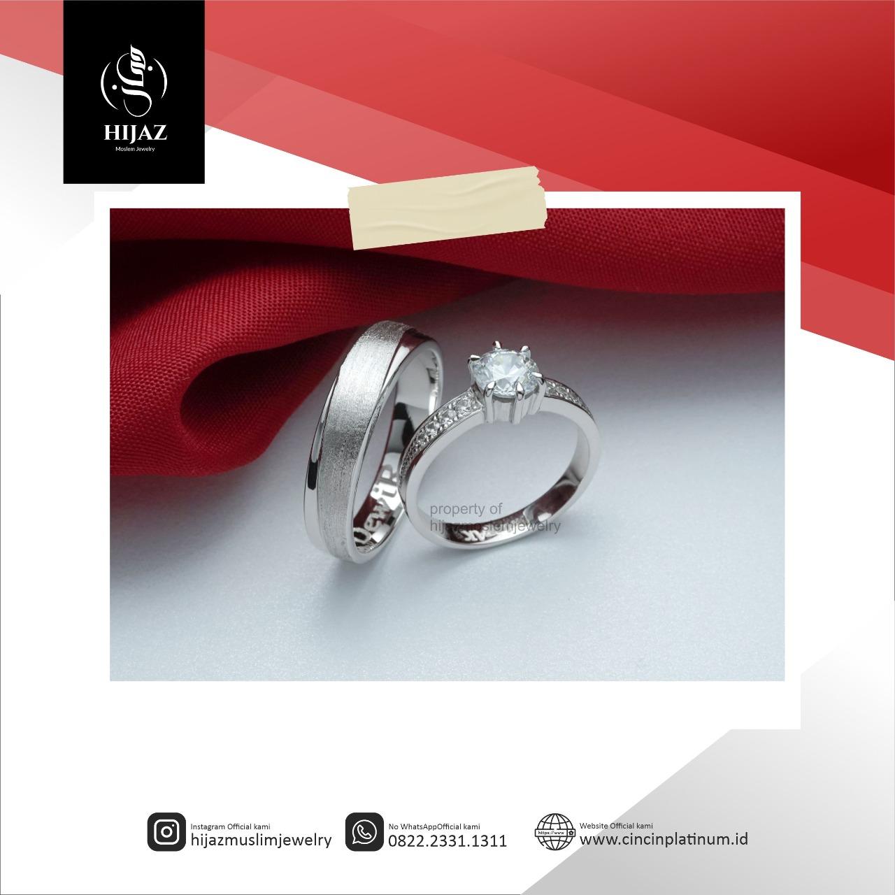 Cincin Kawin Tunangan Solitaire Elegan PD0153WG