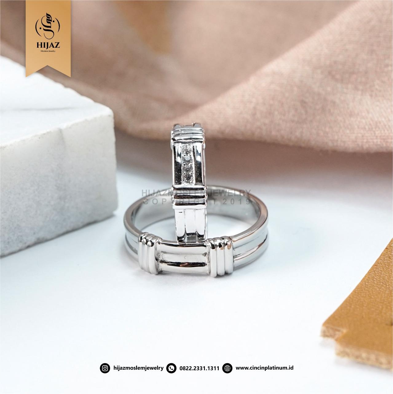 Cincin Kawin Couple Platidium Emas Putih PTD0160WG