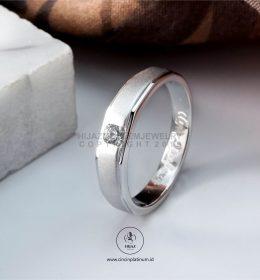 Cincin Kawin Tunangan Emas Putih Simpel WG0161