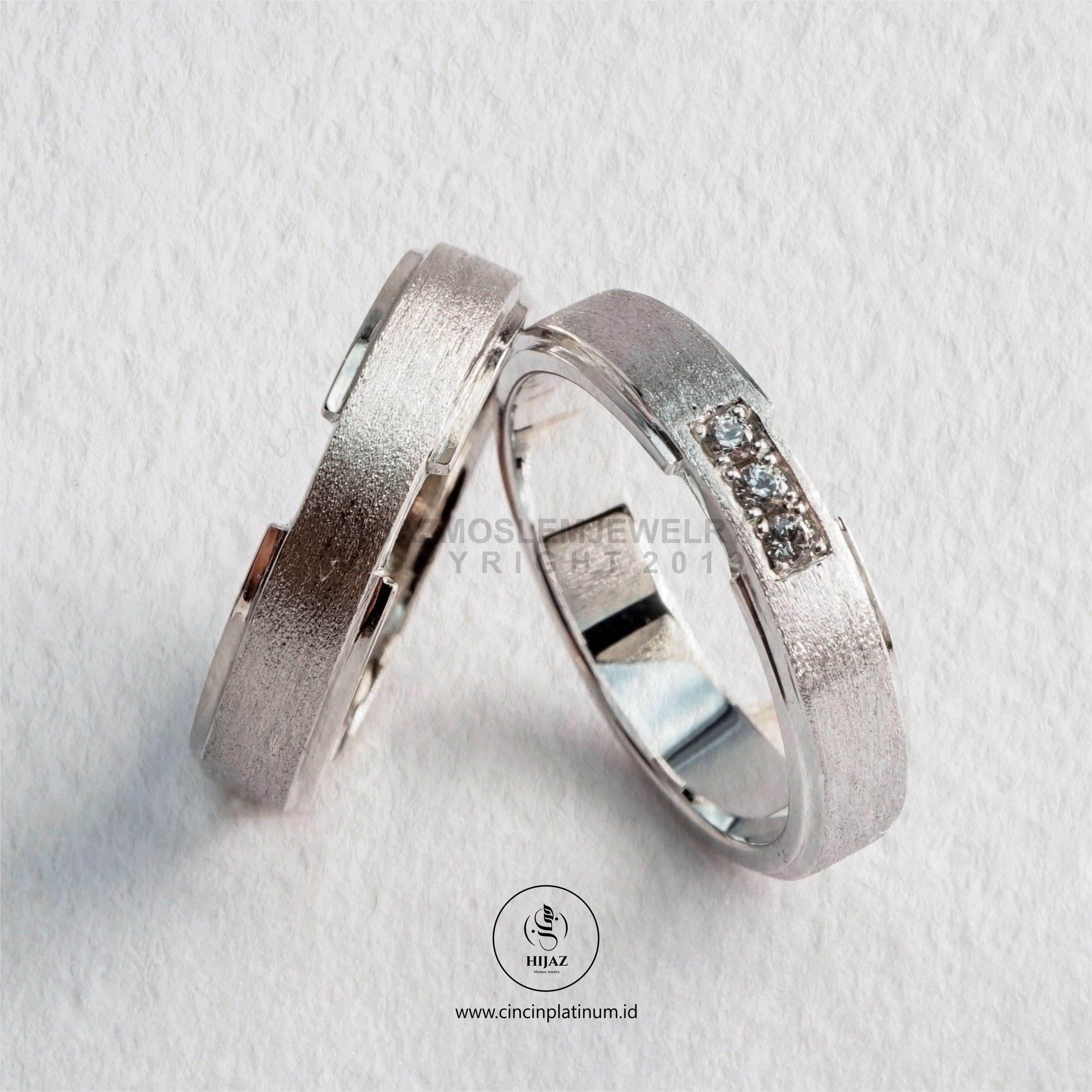 Cincin Kawin Tunangan Palladium Emas Putih PD0170