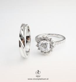 Cincin kawin Tunangan Glamour Halo ring WG0166WG